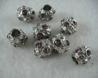 Metal bead, 8 pieces  (917)