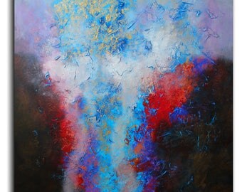 Abstract painting by Alex Senchenko . Contemporary ART . Modern , original , canvas , wall art , decor .  Free  Shipping . LOOKS AMAZING