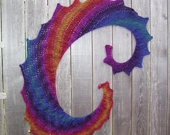 Rainbow Shawlette