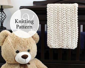 Knitting Pattern, Baby Blanket, Somerset Baby Blanket