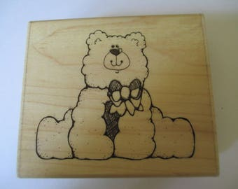 "Rubber Stamp "" Big Bunch Bear"" slightly used good condition"