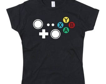 ON SALE Ladies Xbox Controller Joypad Buttons Tshirt