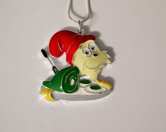 Dr ZEUSS Green EGGS & HAM Inspired Large Charm Necklace