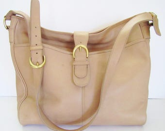 Vintage Rare Coach Studio Bag 4081 Taupe XL Business Travel Baby 1990s