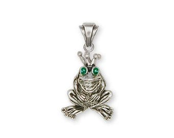 Frog Pendant Jewelry Sterling Silver Handmade Frog Pendant FG18-XP