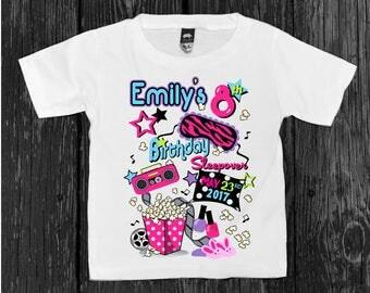 Girls SLUMBER PARTY Shirt Sleepover BIRTHDAY Tee Personalized for Girls Slumber Party Birthday Sleepover Shirt sizes 2T to 18 /20