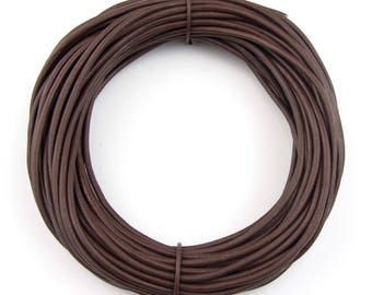 Brown Natural Dye Round Leather Cord 1mm 10 meters (11 yards)