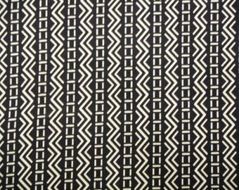 Indigo Geometric Vintage Japanese cotton kimono fabric