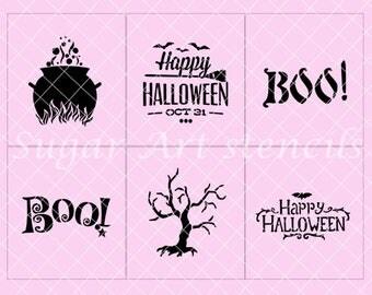 Halloween stencils set of 6  SL20205
