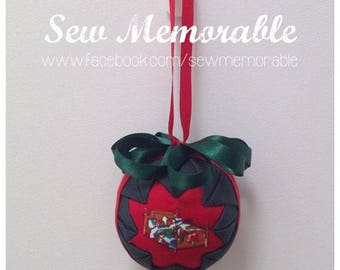 Hand quilted Christmas Bauble - Sweet Dreams