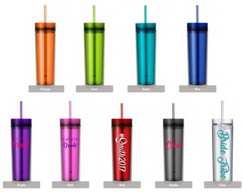 Bachelorette Party Tumblers; Skinny Tumbler; Personalized;Bachelorette Party; bridesmaid gift; groomsman gift
