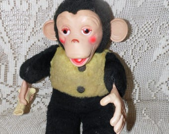 "Vintage Zip Zippy Mr. Bim Stuffed Monkey 1950's T-124 15"""