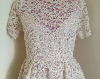 Tea length wedding dress size 10