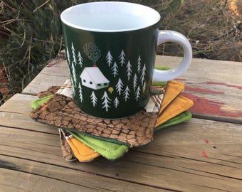 Gone Fishing Mug Rug Set
