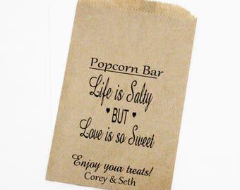 Wedding Favor Bags, Popcorn Bags, Candy Bags, Rustic Wedding