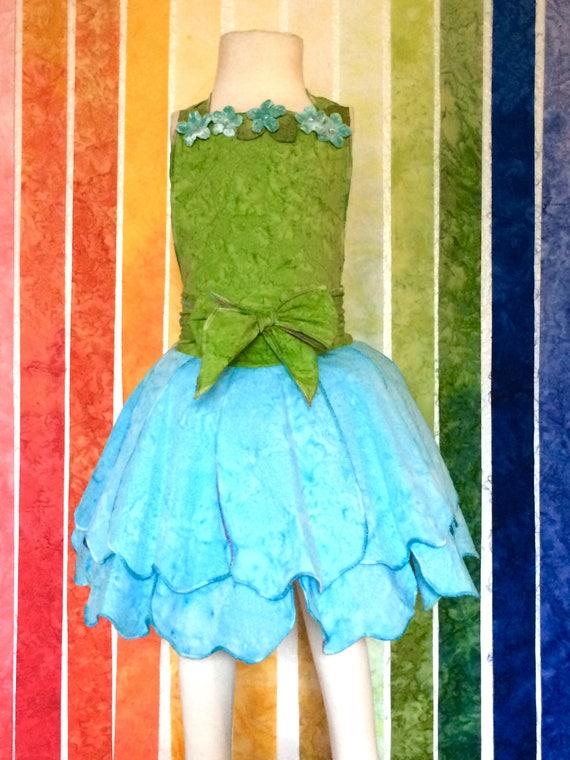 Fairy Dress Up Apron, Blue, Disney Vacation Outfit, Birthday Dress, Kids Dress up, Fairy Dress, Halloween Costume, Princess Dress, Apron