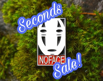 NO FACE soft enamel pin