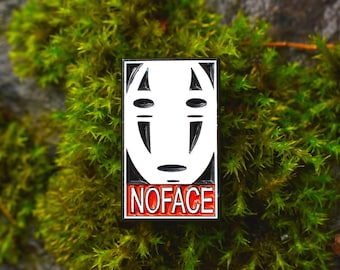NO FACE soft enamel pin C GRADE
