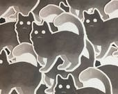 Spoopy Cat Glossy Vinyl Stickers