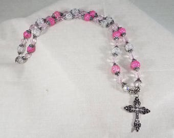 Glass Beads,Pendant,Necklace,handmade,jewelry,cross,cross pendant, pendant necklace,cross necklace,cross necklace,church,religion,belief