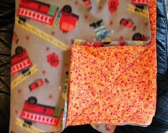 Weighted blanket, select your weight, fire trucks, ready to ship, autism, sensory processing, insomnia, adhd