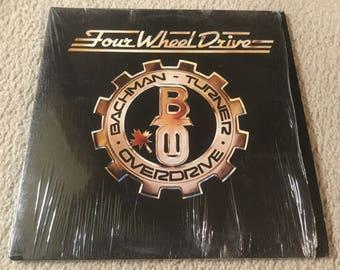 BTO Bachman turner overdrive Four wheel drive Vinyl Record LP Album in shrink rock n roll