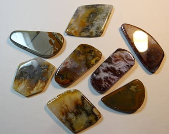Tumbled free form cabochons for wire wrapping