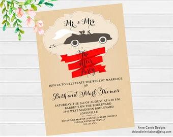 Wedding Shower Invitation  | Wedding Reception Invitation | After the Wedding Invitation | Couples Shower Invitation | Bride and Groom