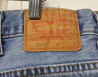 Vintage Levis jeans 80s 90s jeans, 550, Size 46/29