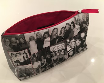 Photo memory cosmetic makeup bag