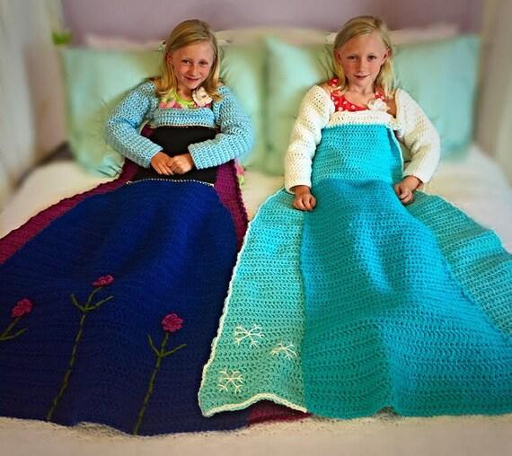 Elsa Crochet Princess Dress Blanket Pattern From