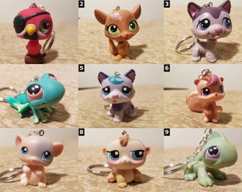 Littlest Pet Shop Animal Keychains - SELECT ONE