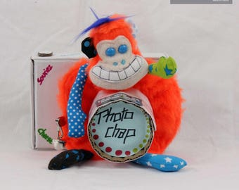Plush camera lens, monkey, colorful and funny