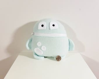 Blue and White Tooth Fairy Pillow- Pocket Monster- Colorful Monster Plush