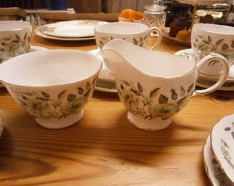 Colclough Milk Jug and Sugar Bowl - Vintage