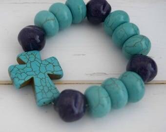 Women Stretch Bracelet, Gift For Christian Women, Gift-For-Girlfriend, Christian Bracelet Jewelry, Christian Jewelry Bracelet, Gift-For-Wife