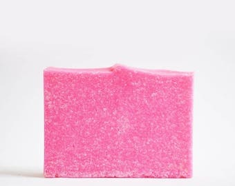 25% OFF CLEARANCE SALE Pink Lime Soap | Refreshing Citrus Scented Salt Bar, Cold Process, Palm Free, Handmade, Vegan, Artisan, Homemade, Mil