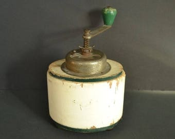 On Sale Antique Garantie Coffee Grinder - Table Top Wood Grinder