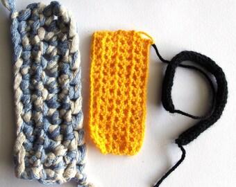 Set of 3 rectangles crochet appliques