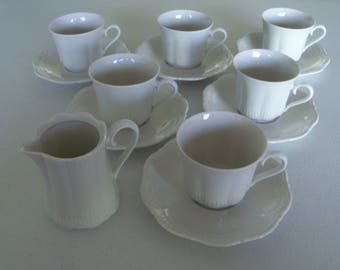 Schirnding Bavaria 6 Cups & Saucers With Creamer