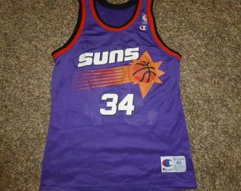 Vtg Charles Barkley Phoenix Suns NBA Champion Jersey Sz Men's 40 M