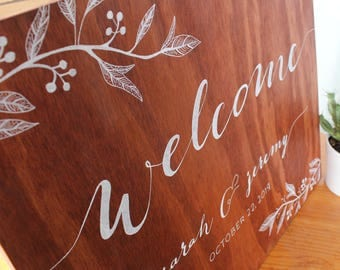 Handwritten Calligraphy Wedding Welcome Sign | Decoration Signage *Price Listed is a Deposit