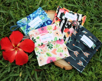 Soap Travels ~ Reusable pouch, Eco-PUL fabric, environmentally friendly, waterproof, breathable and trendy way to carry or store your soap!