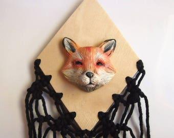 FOX WALL ART - Handmade Sculptural Wall Art Piece