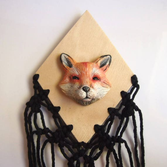 FOX WALL ART - Handmade Sculptural Wall Art Piece