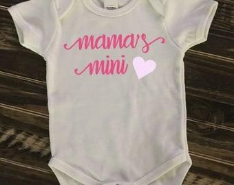 Mama's Mini Onesie, creeper, bodysuit | sparkle | glitter | personalized gift
