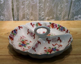 Vintage Divided Serving Dish OR Candy Dish 9.5""
