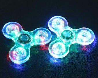 Crystal LED spinner