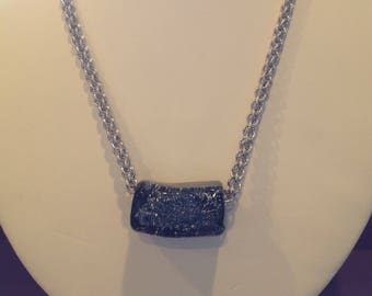 Silver and Black Jens Pind Necklace
