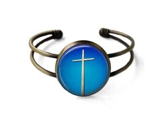 Giant Cross Cuff Bracelet